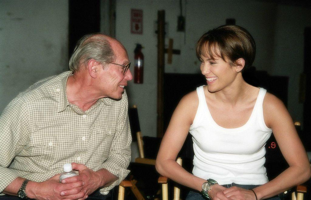 Producent Irwin Winkler i Jennifer na setu filma