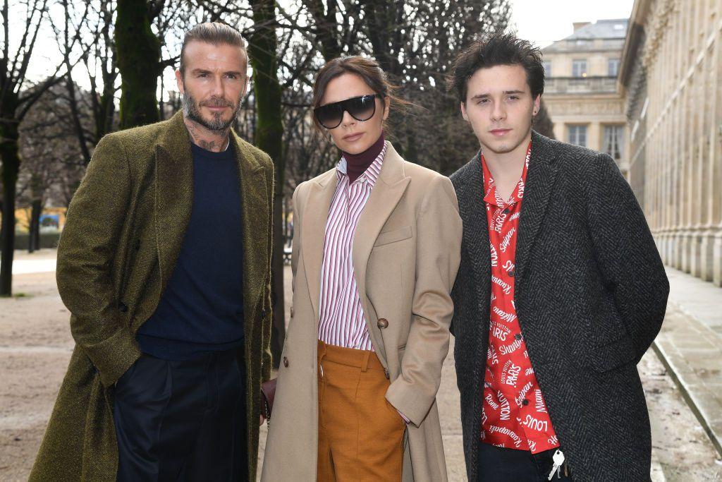 Victoria sa suprugom Davidom i sinom Brooklynom