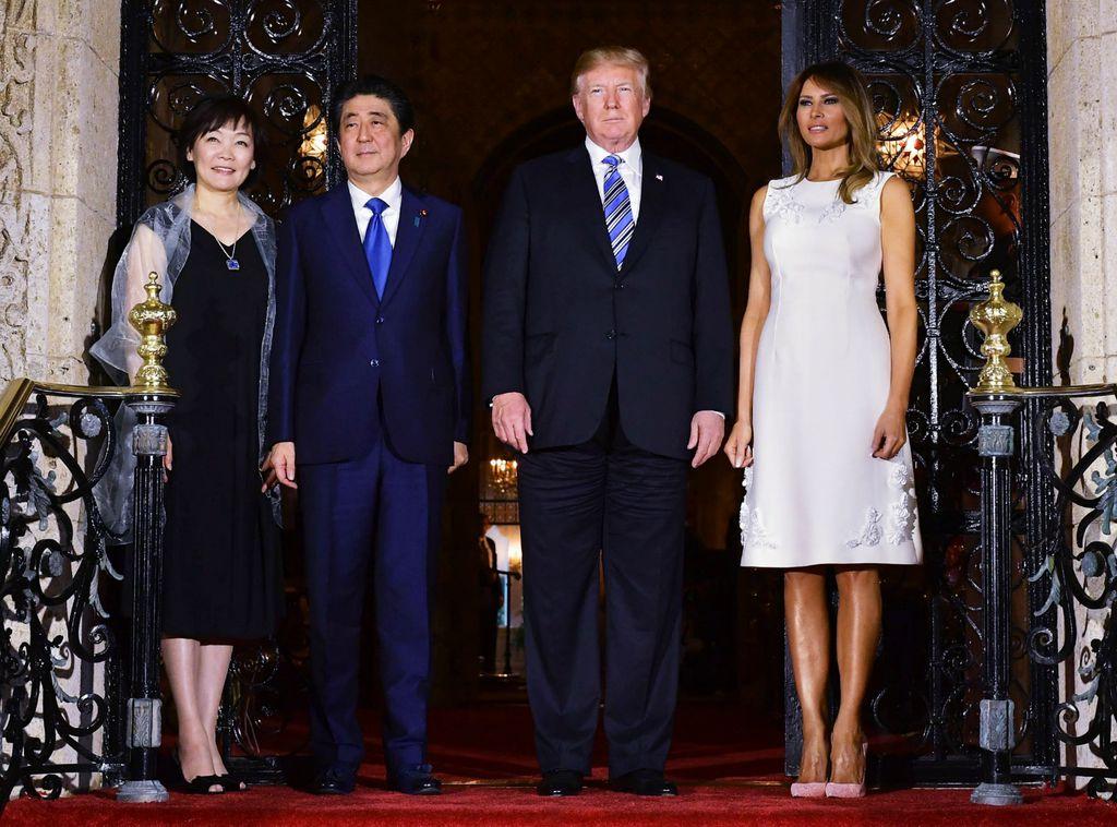 Akie Abe, Shinzo Abe, Donald Trump i Melania Trump