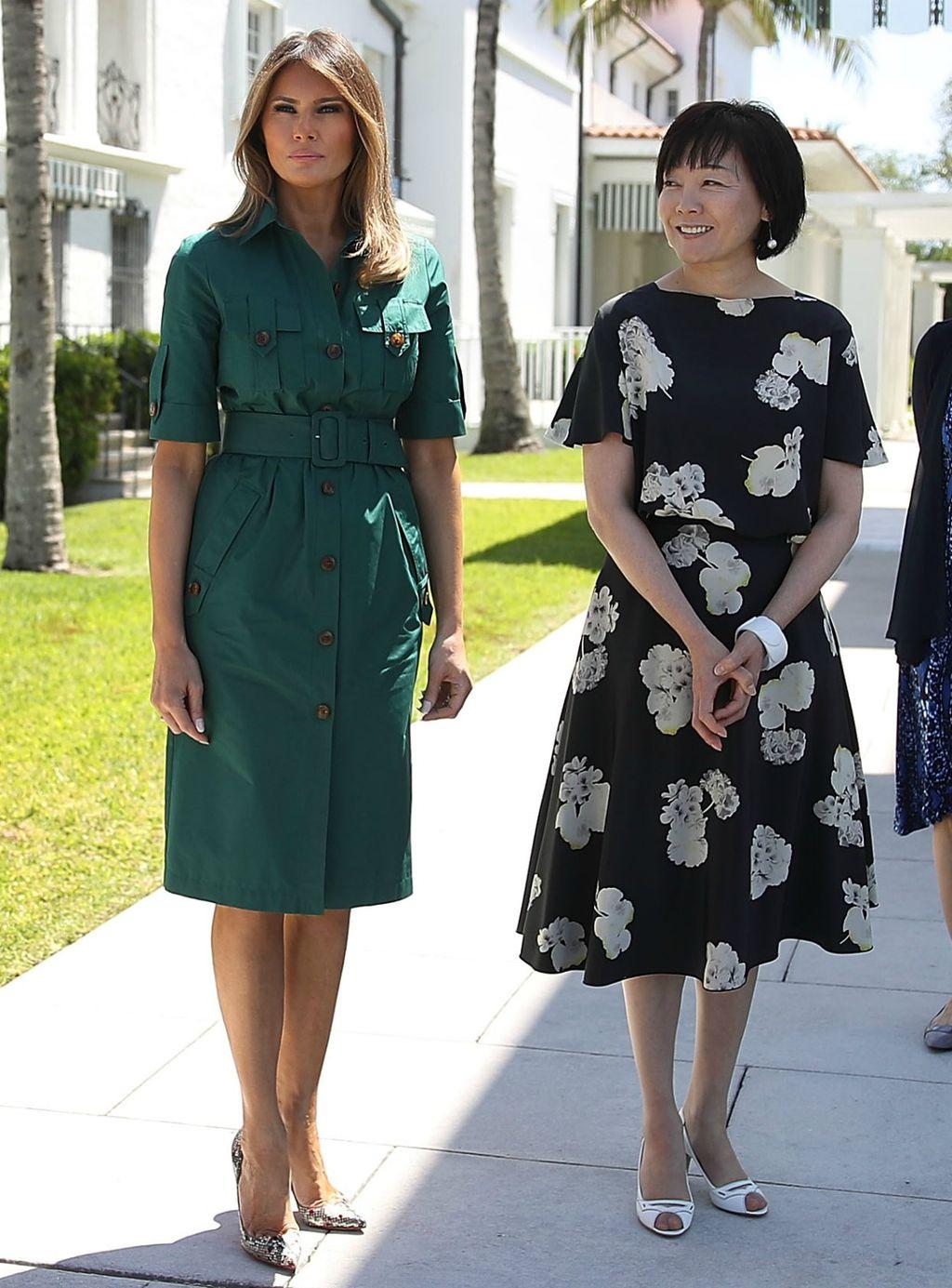 Melania i Akie prilikom posjeta muzeju u Palm Beachu