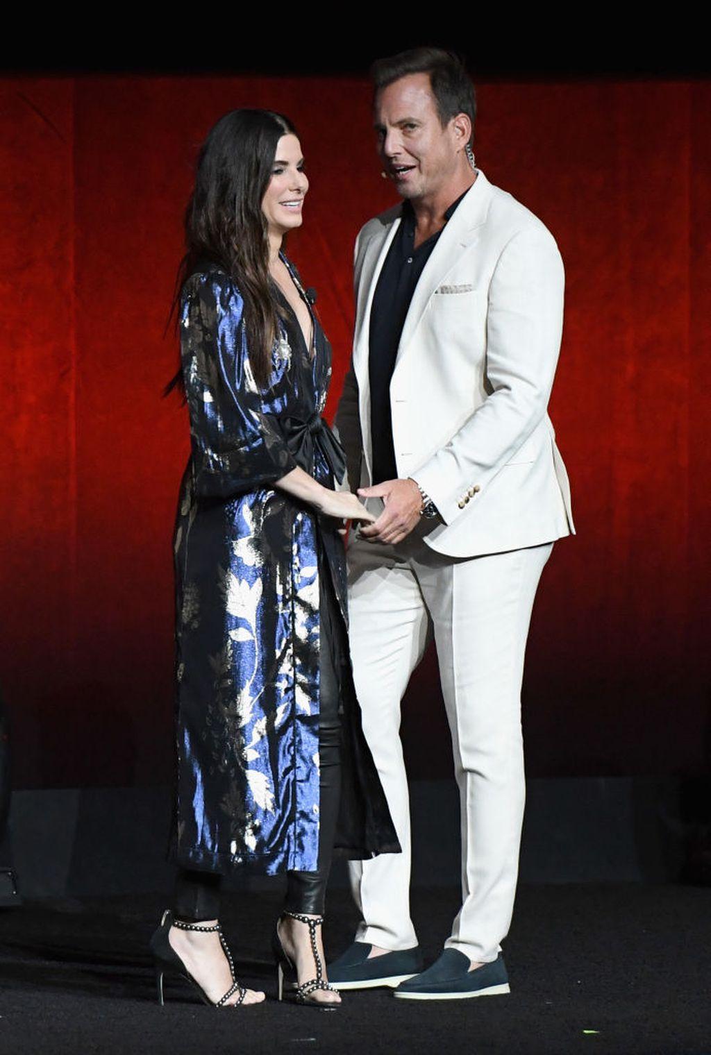 Sandra i Will Arnett na CinemaConu