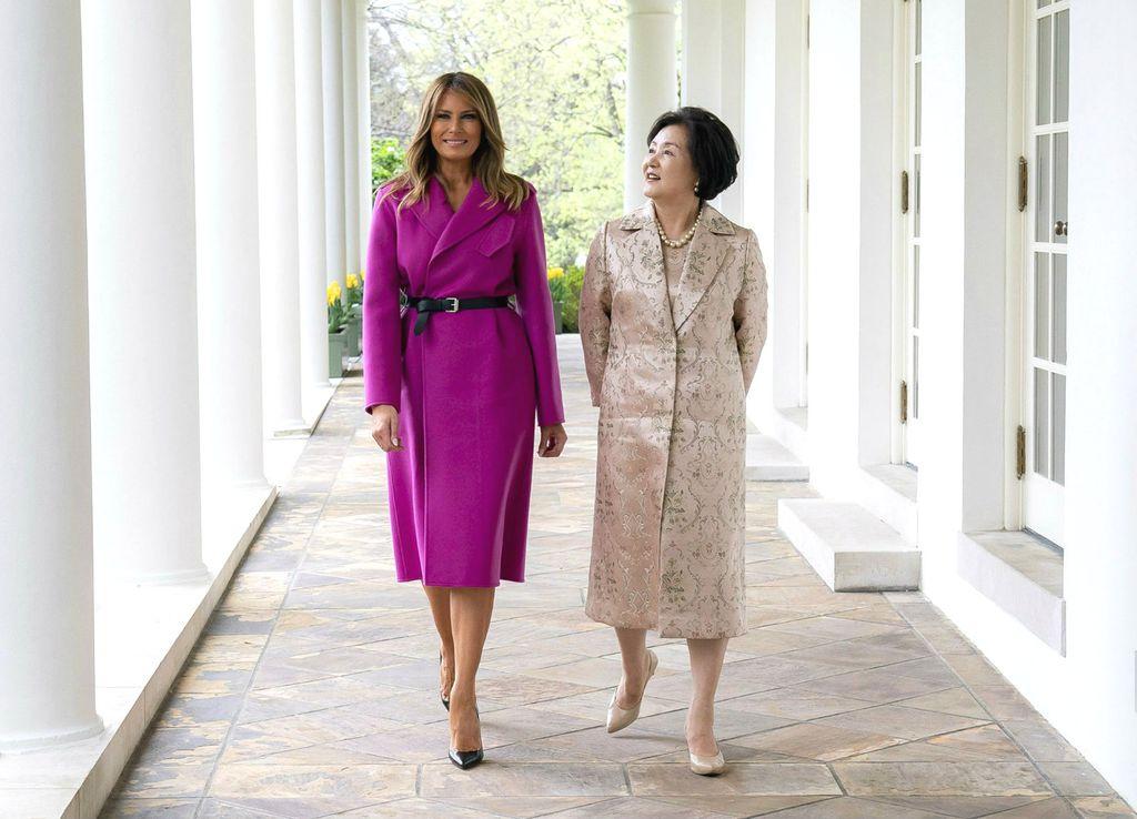 Melania u društvu južnokorejske prve dame Kim Jung-sook