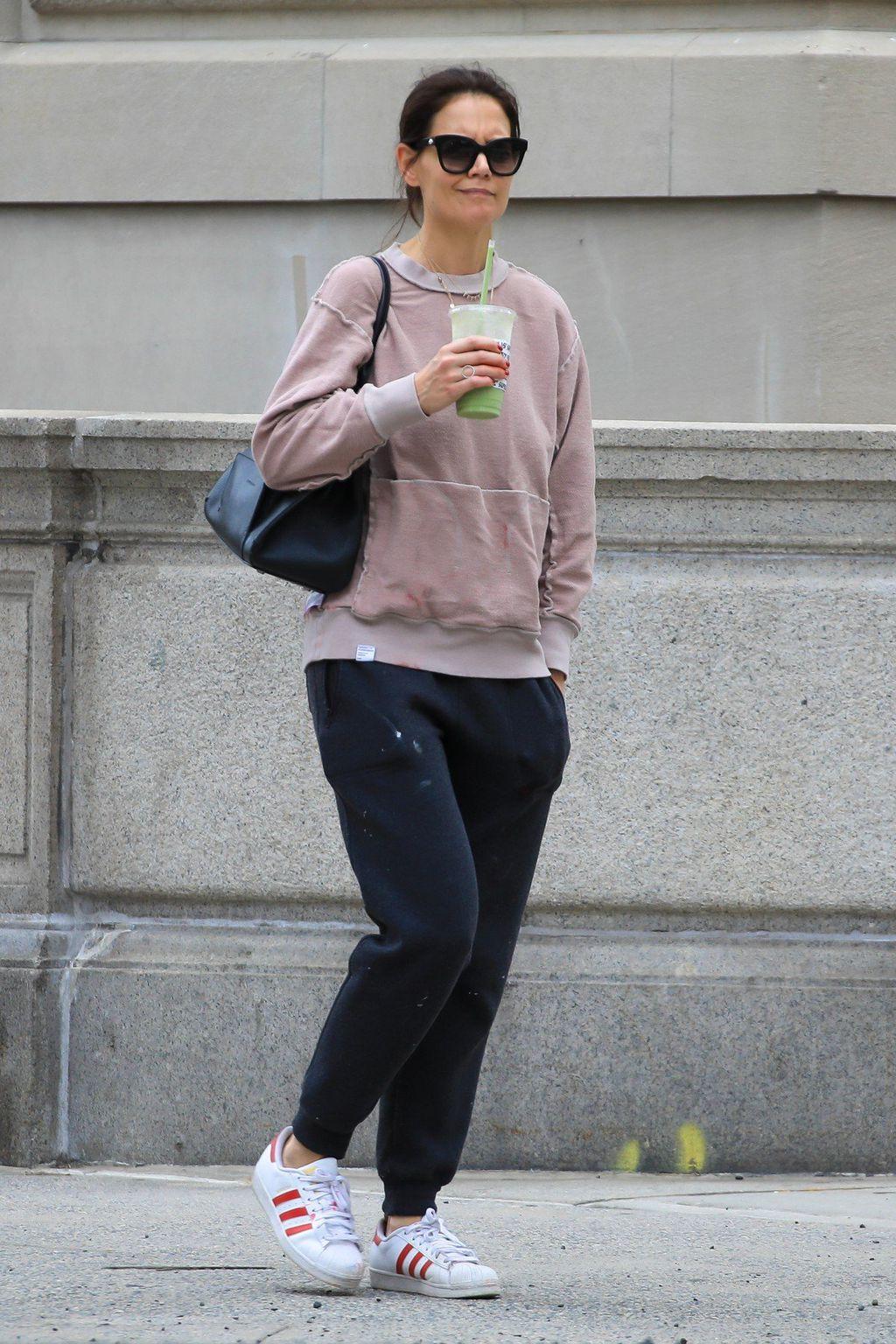 Katie je nosila trenirku zamrljanu bojom