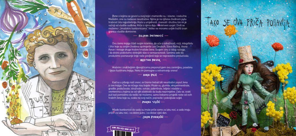 Knjiga obiluje ilustracijama hrvatskih umjetnica, pravim remek-djelima