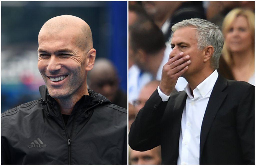 Zinedine Zidane i Jose Mourinho (Foto: AFP)