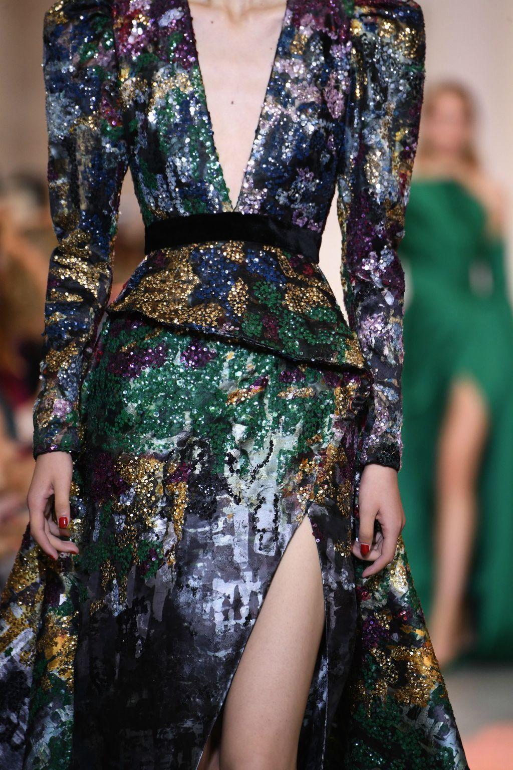 Šljokice u kolekciji modne kuće Elie Saab za jesen/zimu 2018.