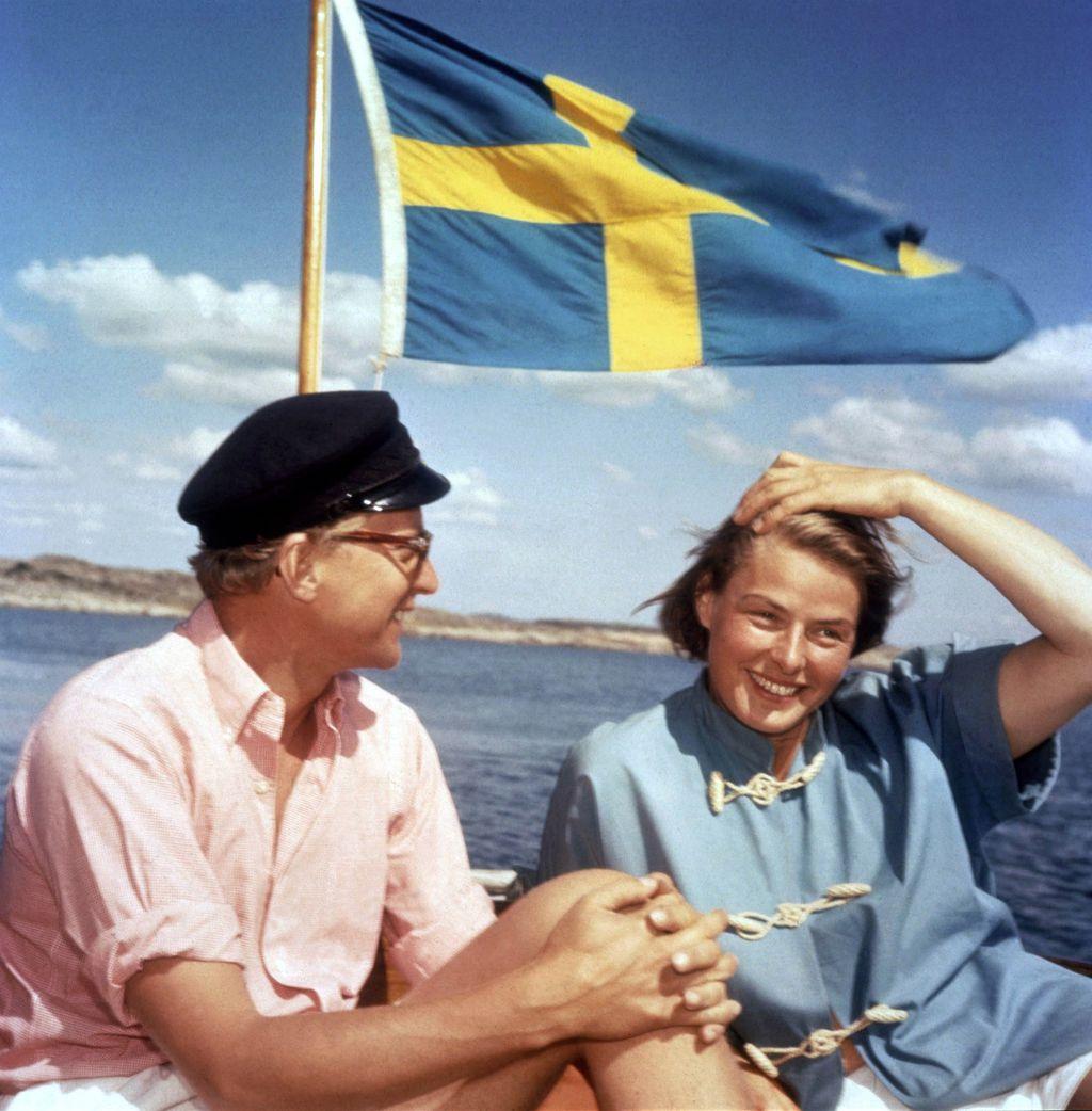 S trećim suprugom, Larsom Schmidtom