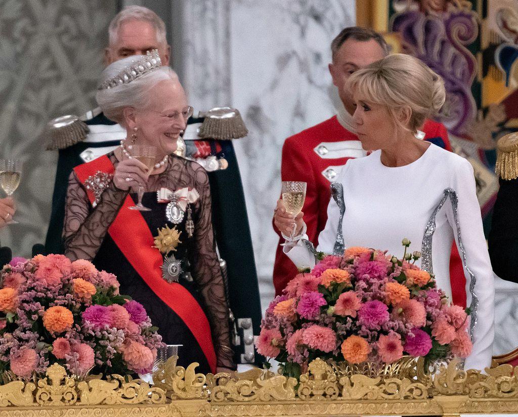 Brigitte s danskom kraljicom Margaretom II.