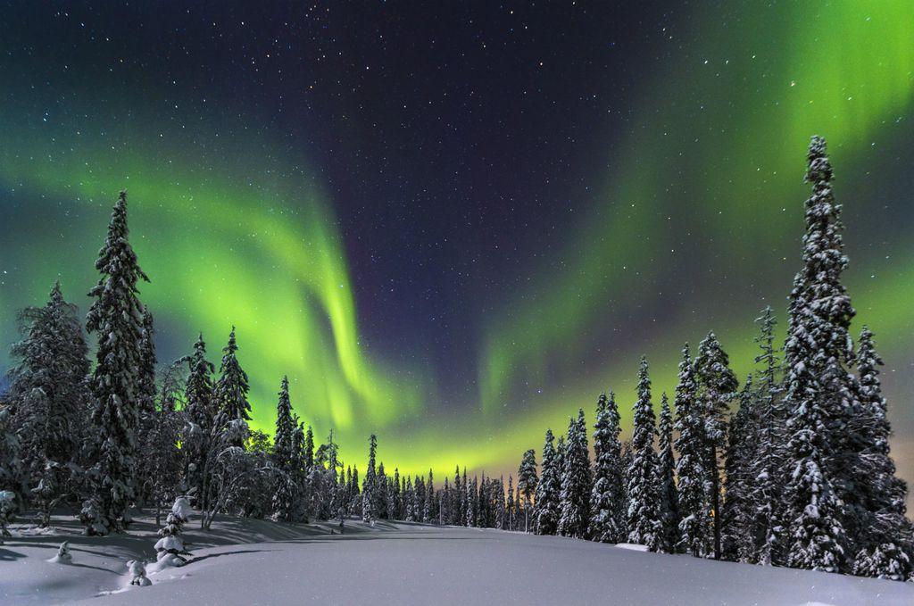 Polarna svjetlost se često na sjeveru Finske