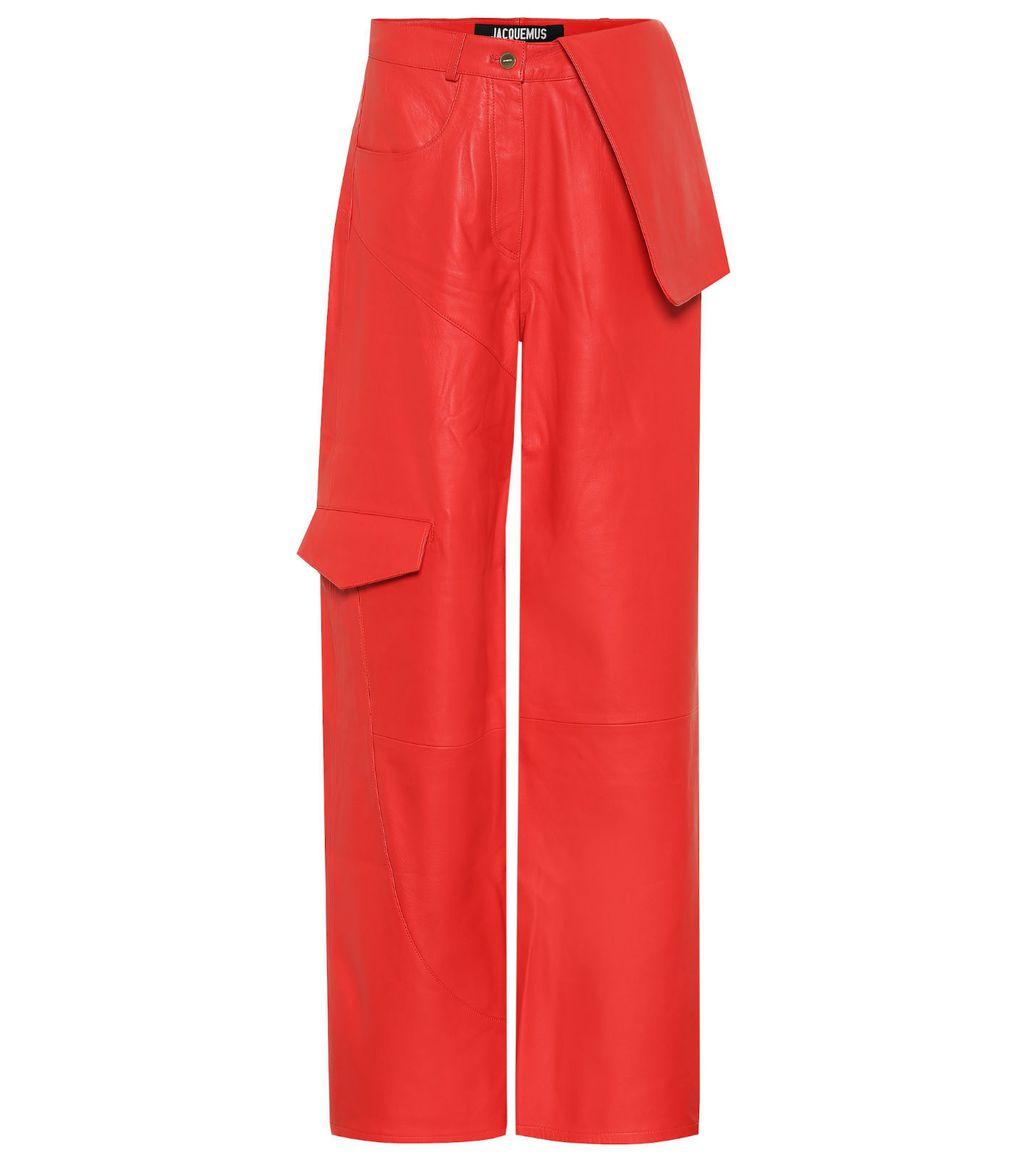 Crvene kožnate hlače brenda Jacquemus - 2