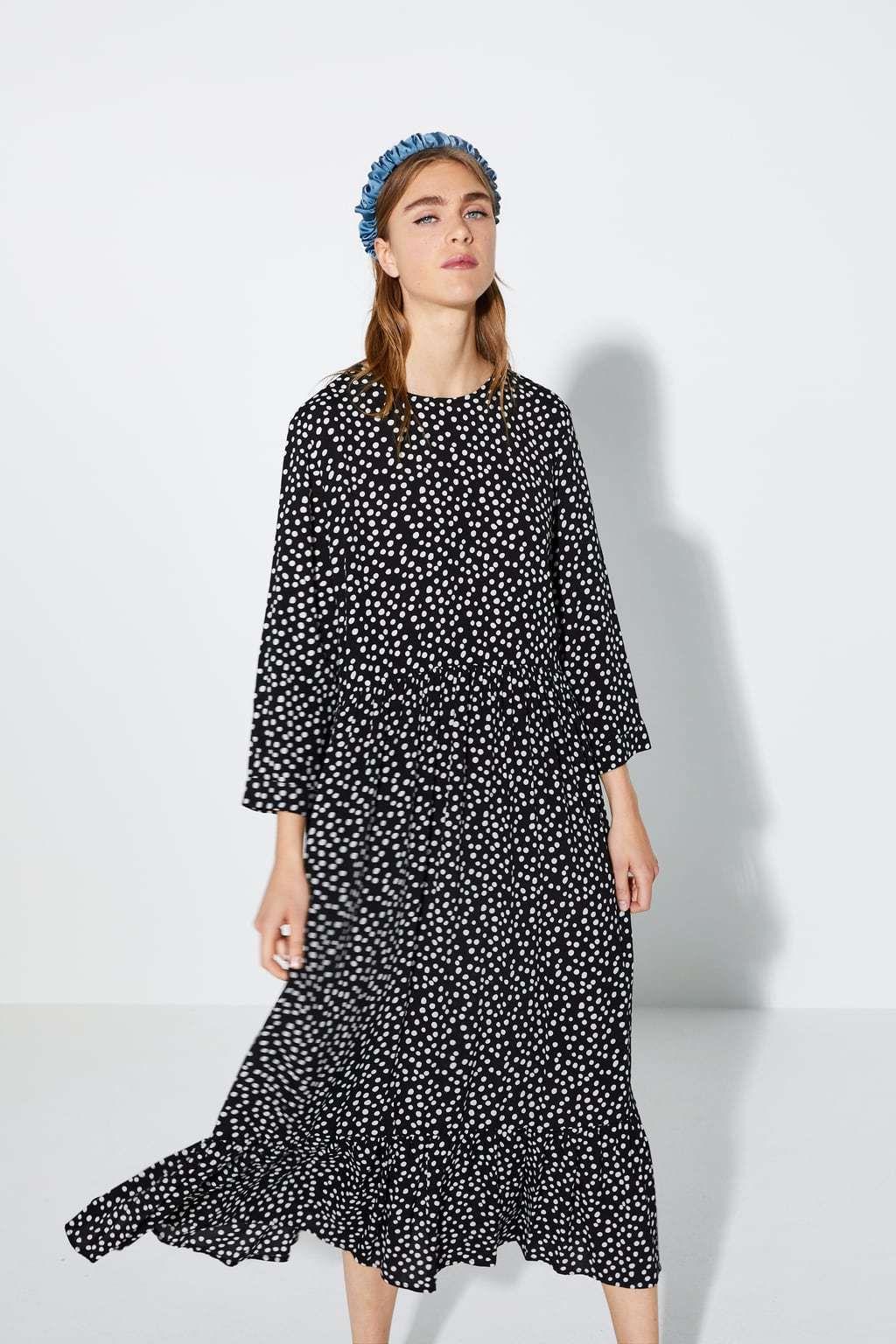 Crna verzija popularne haljine na točkice - 4