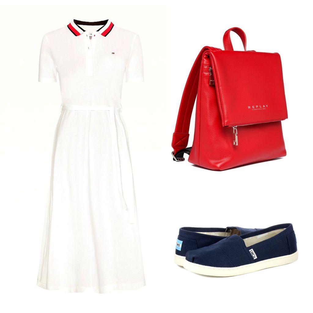 Sportska kombinacija s bijelom haljinom