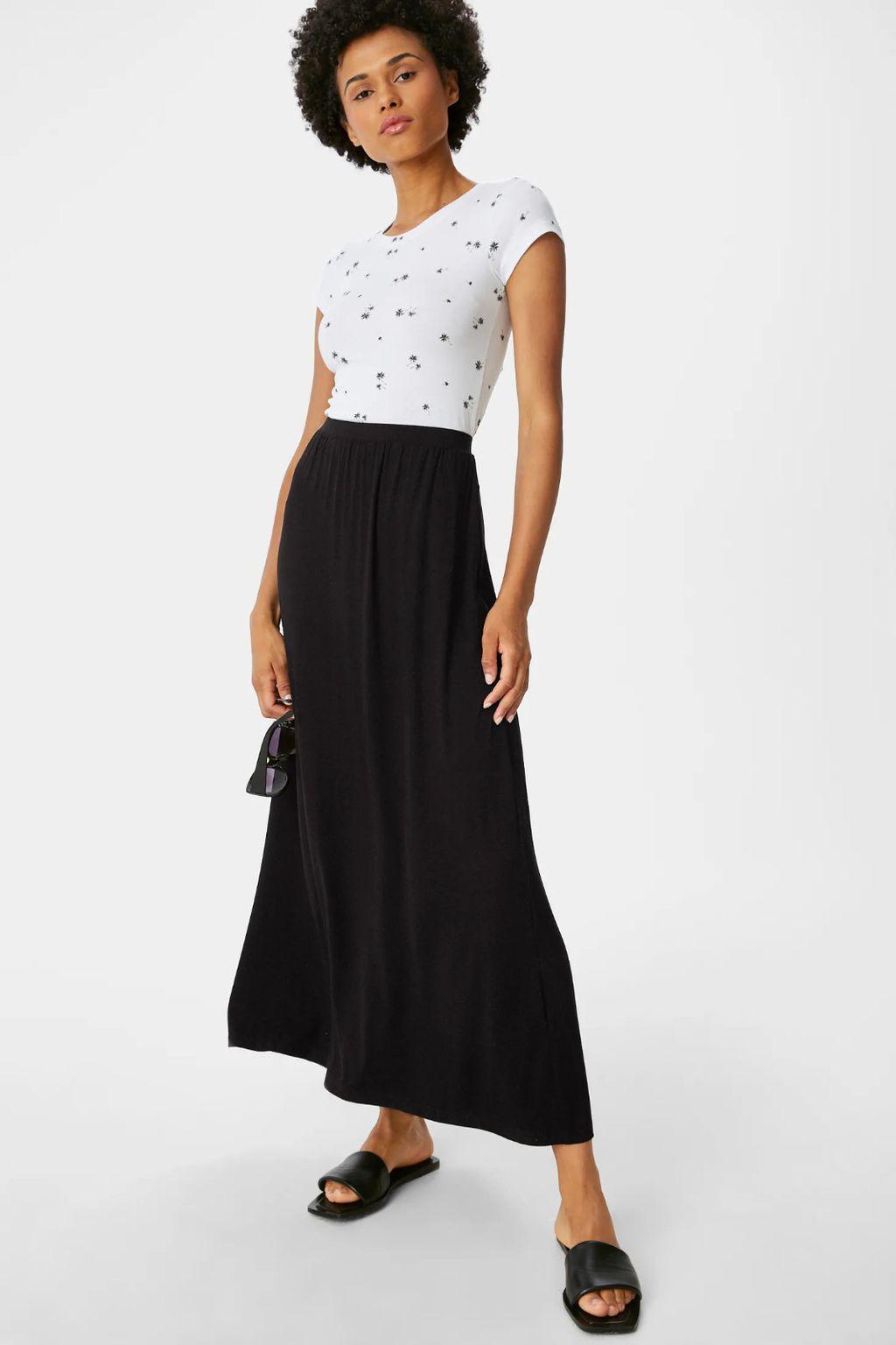Crne suknje midi i maksi kroja iz trgovina - 2021. - 4
