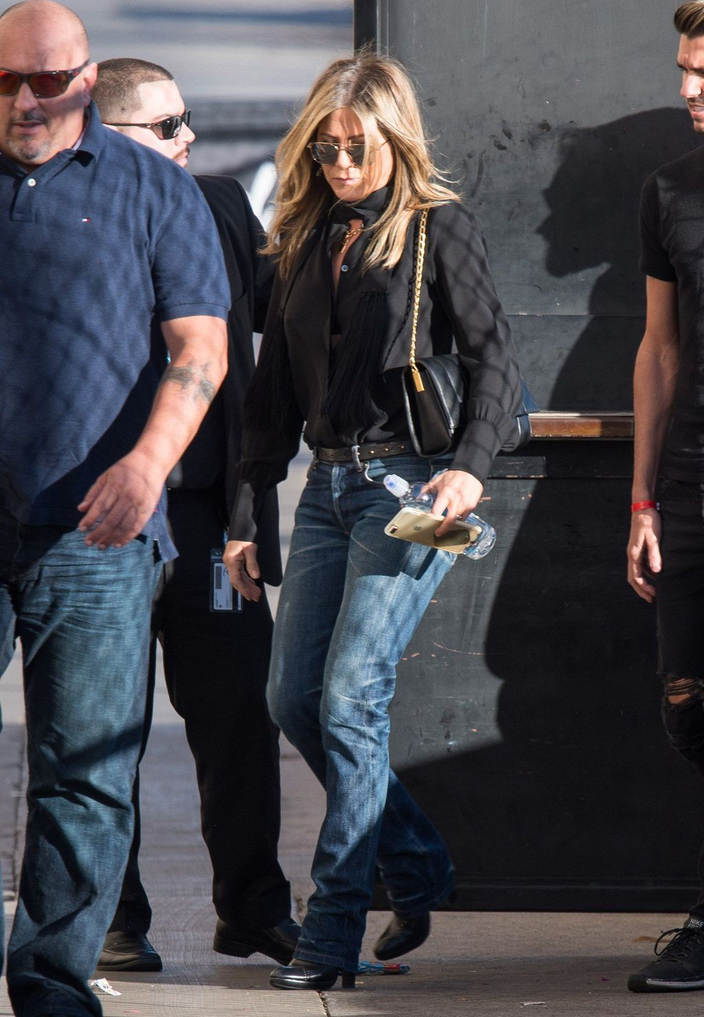 Jennifer na snimanju showa Jimmyja Kimmela