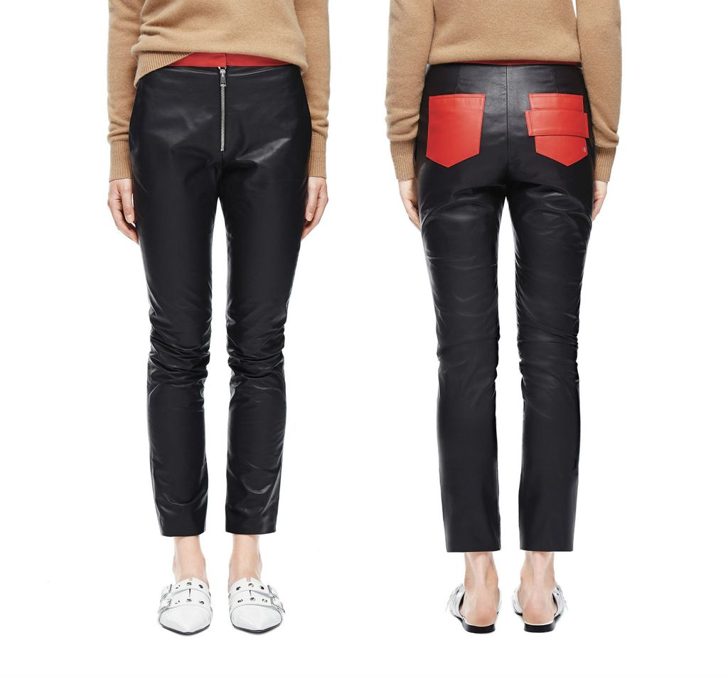 Kontrastne kožnate hlače s potpisom Victorije Beckham, 15.258 kuna