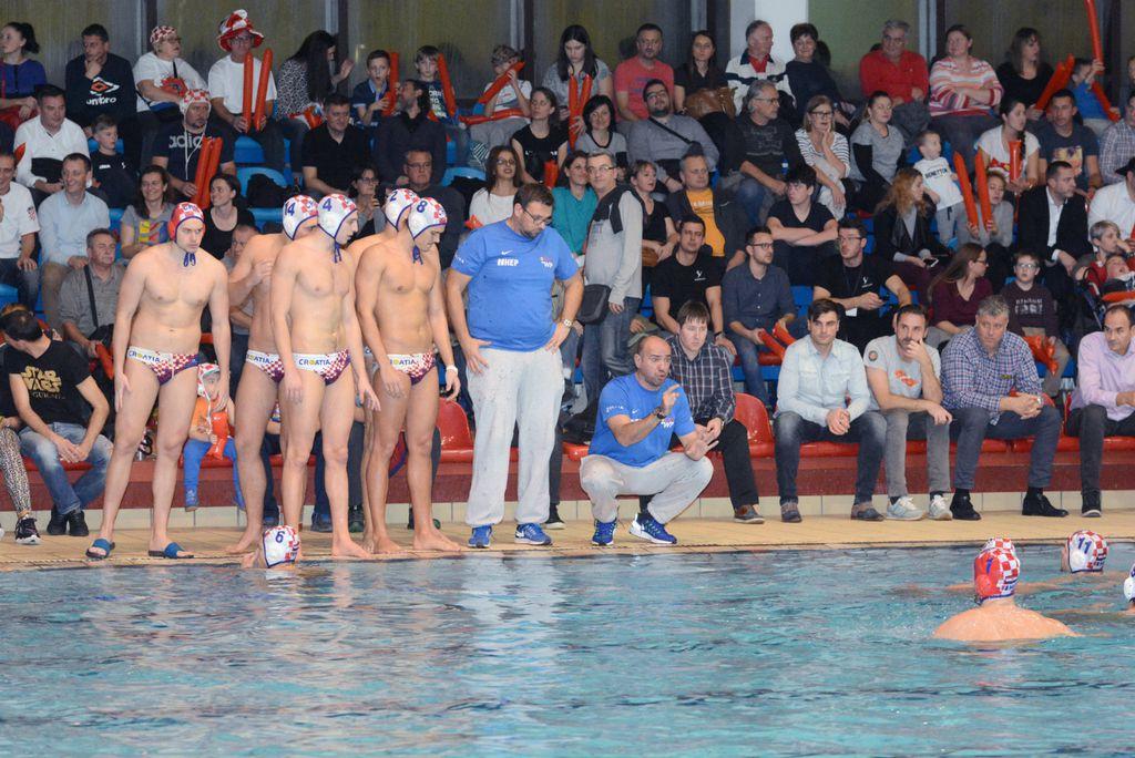 Hrvatska vaterpolska reprezentacija u Sisku (Photo: Nikola Cutuk/PIXSELL)