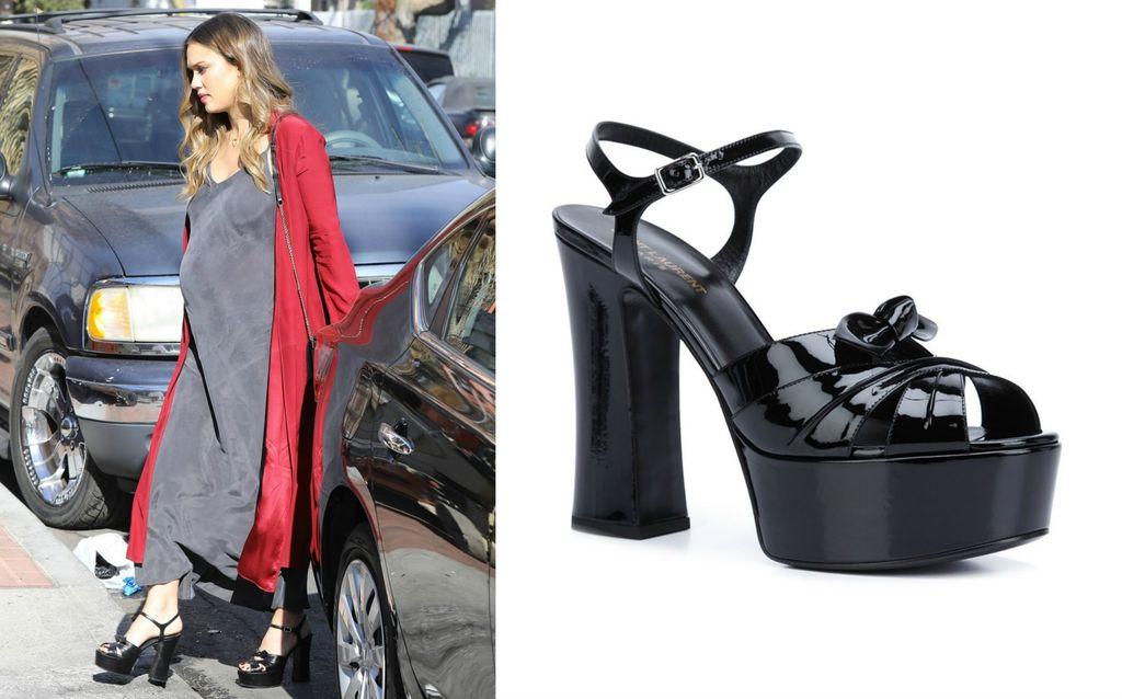 Jessica u štiklama modne kuće Saint Laurent