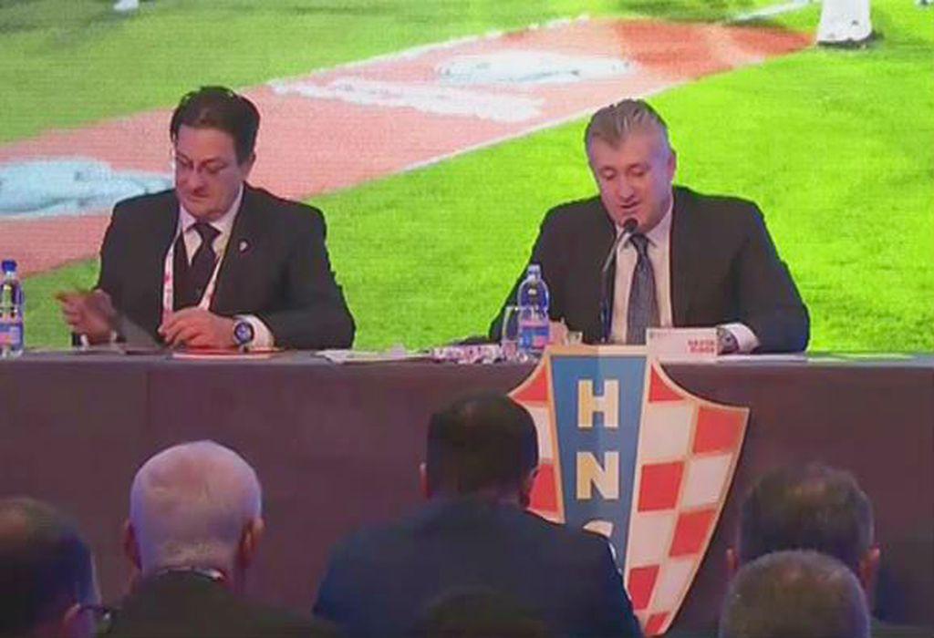 Damir Mišković i Davor Šuker na Skupštini HNS-a