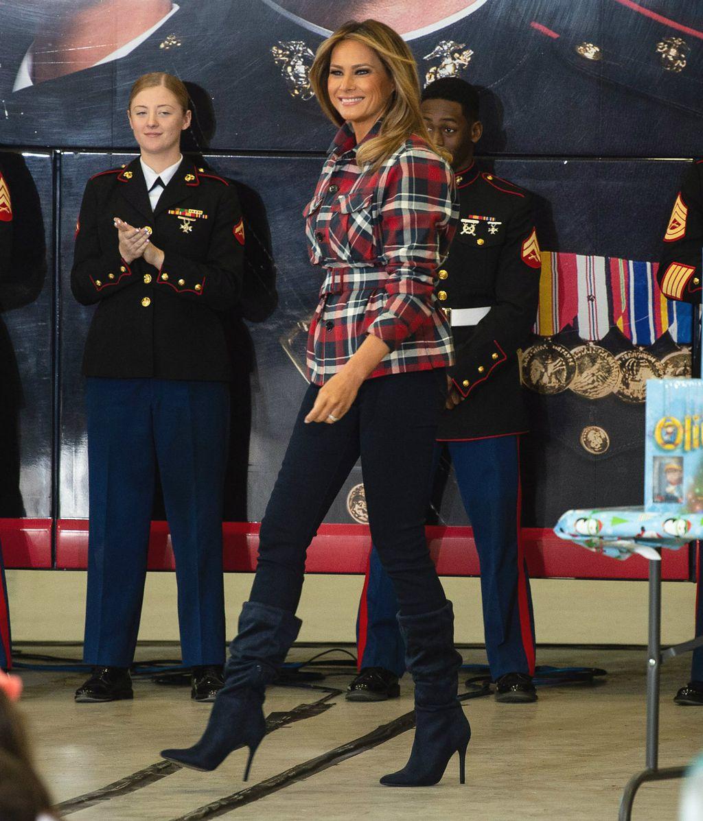 Melania Trump u vojnoj bazi u Washingtonu - 1
