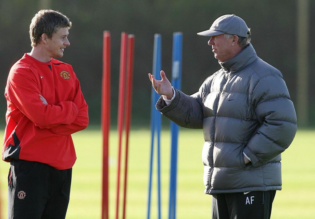 Ole Gunnar Solskjaer i Sir Alex Ferguson (Foto: Martin Rickett/Press Association/PIXSELL)