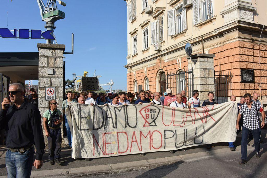 Prosvjed ranika Uljanika u kolovozu