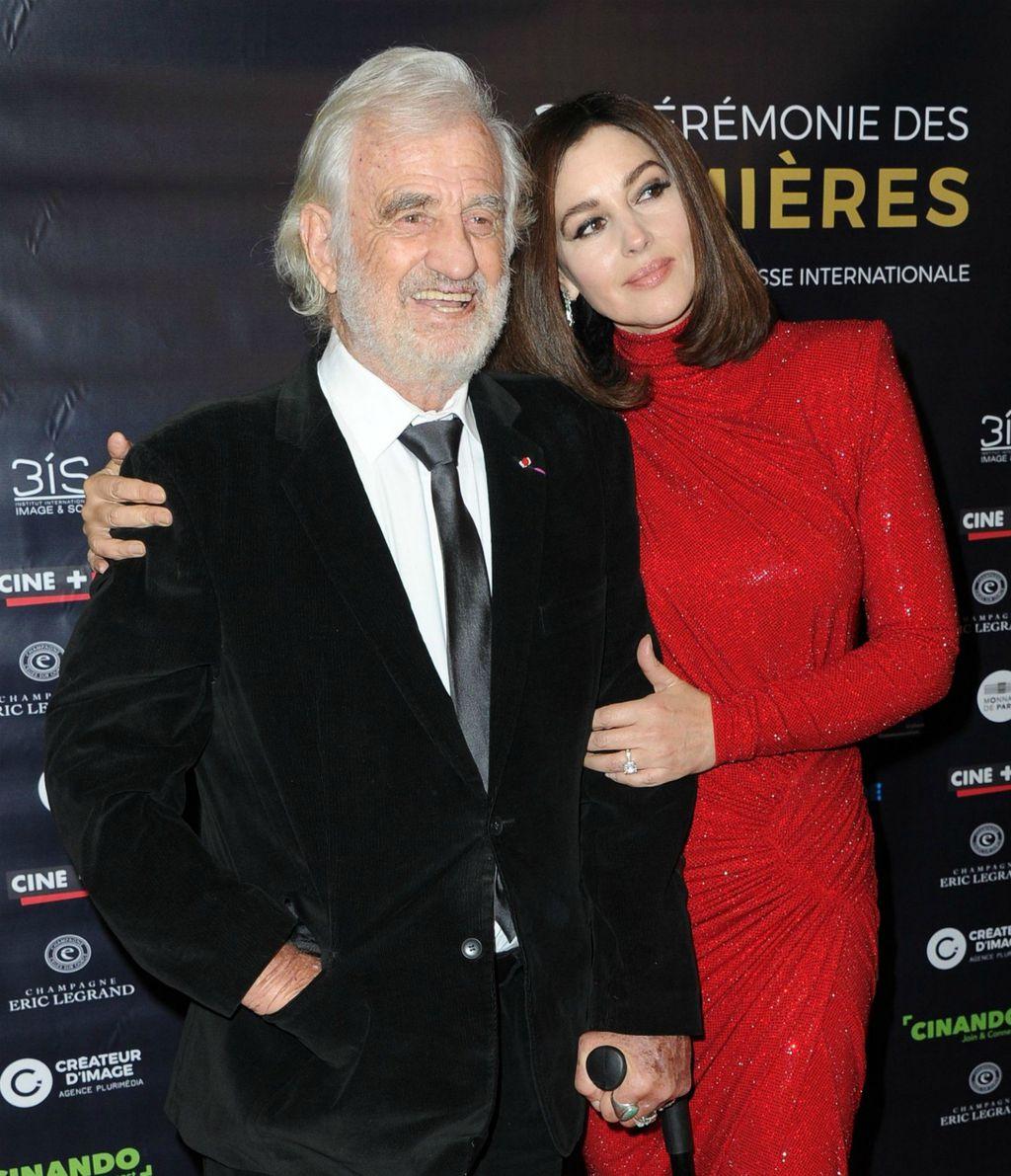 Jean-Paul Belmondo i Monica Bellucci na dodjeli nagrada Lumiere
