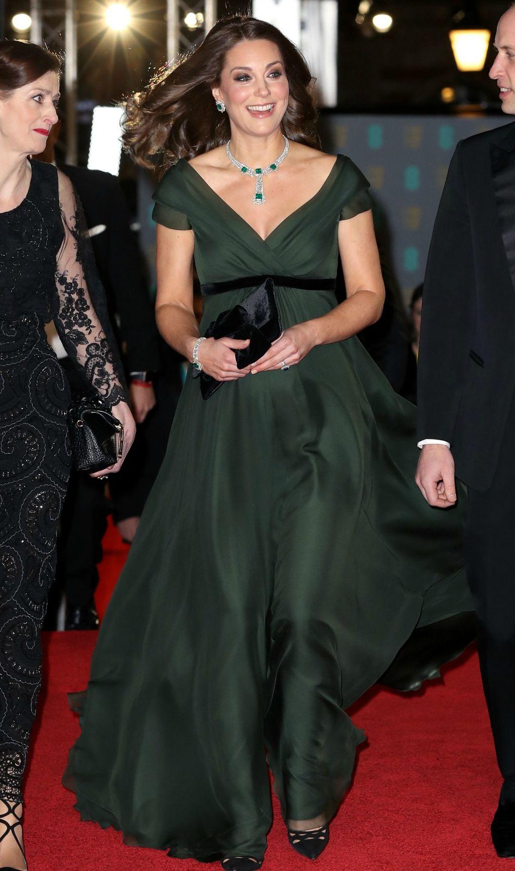 Catherine u zelenoj haljini Jenny Packham