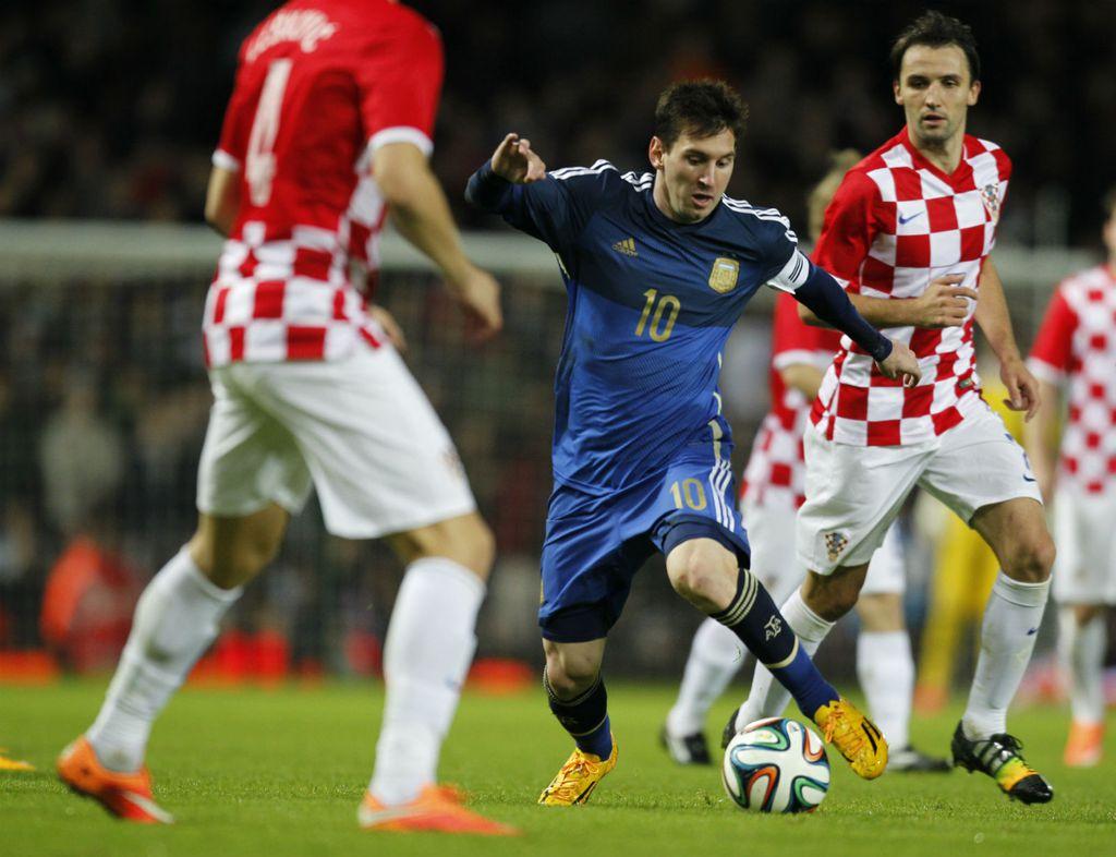 Lionel Messi protiv Hrvatske (Foto: AFP)