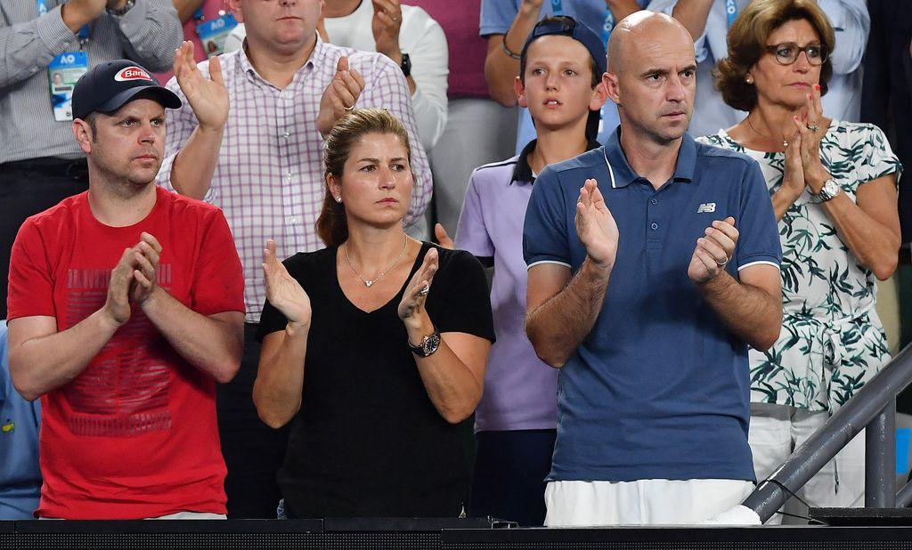 Ljubičić u boksu Rogera Federera (Foto: AFP)