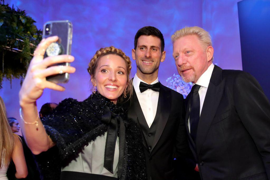 Jelena, Novak i Boris Becker