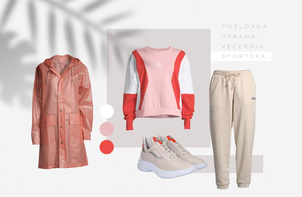 Calvin Klein Jeans majica, Adidas Original donji dio trenirke, Rains kabanica, Högl tenisice; BestSecret