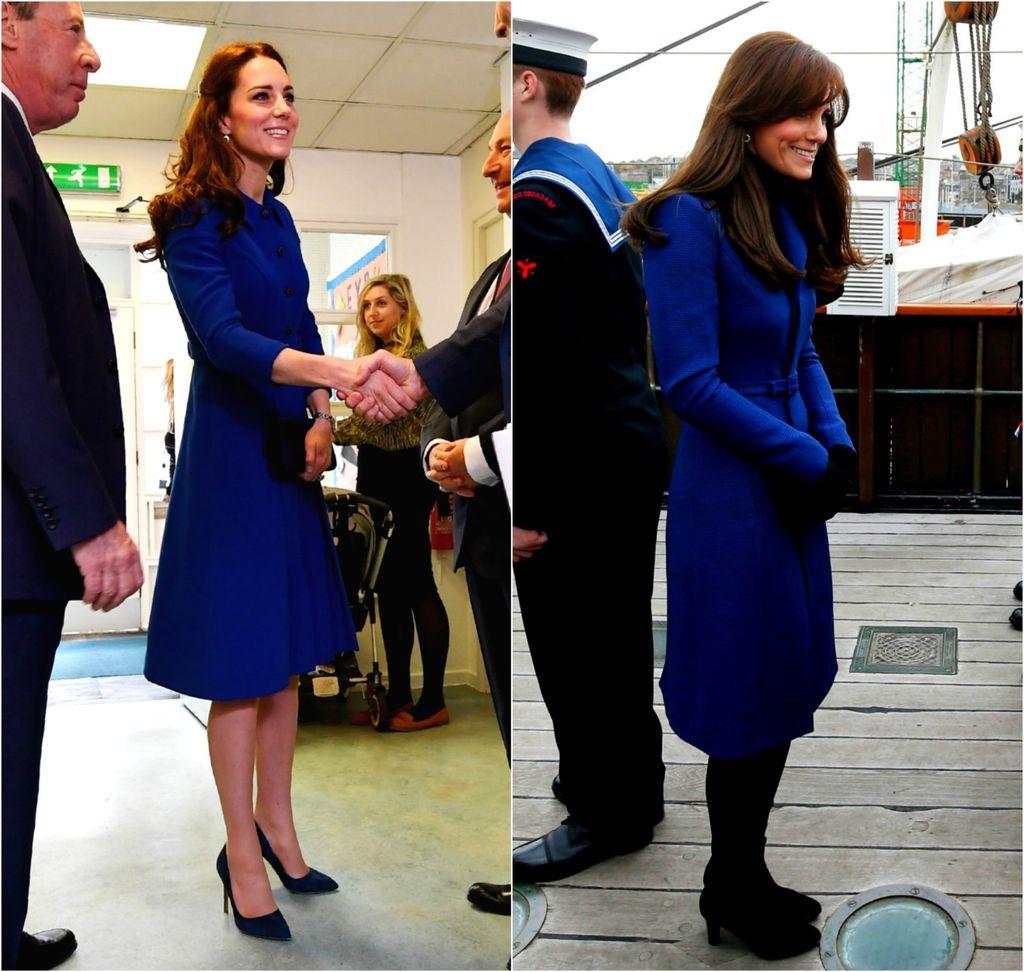Catherine Middleton obožava odjeću u kraljevsko plavoj boji - 4