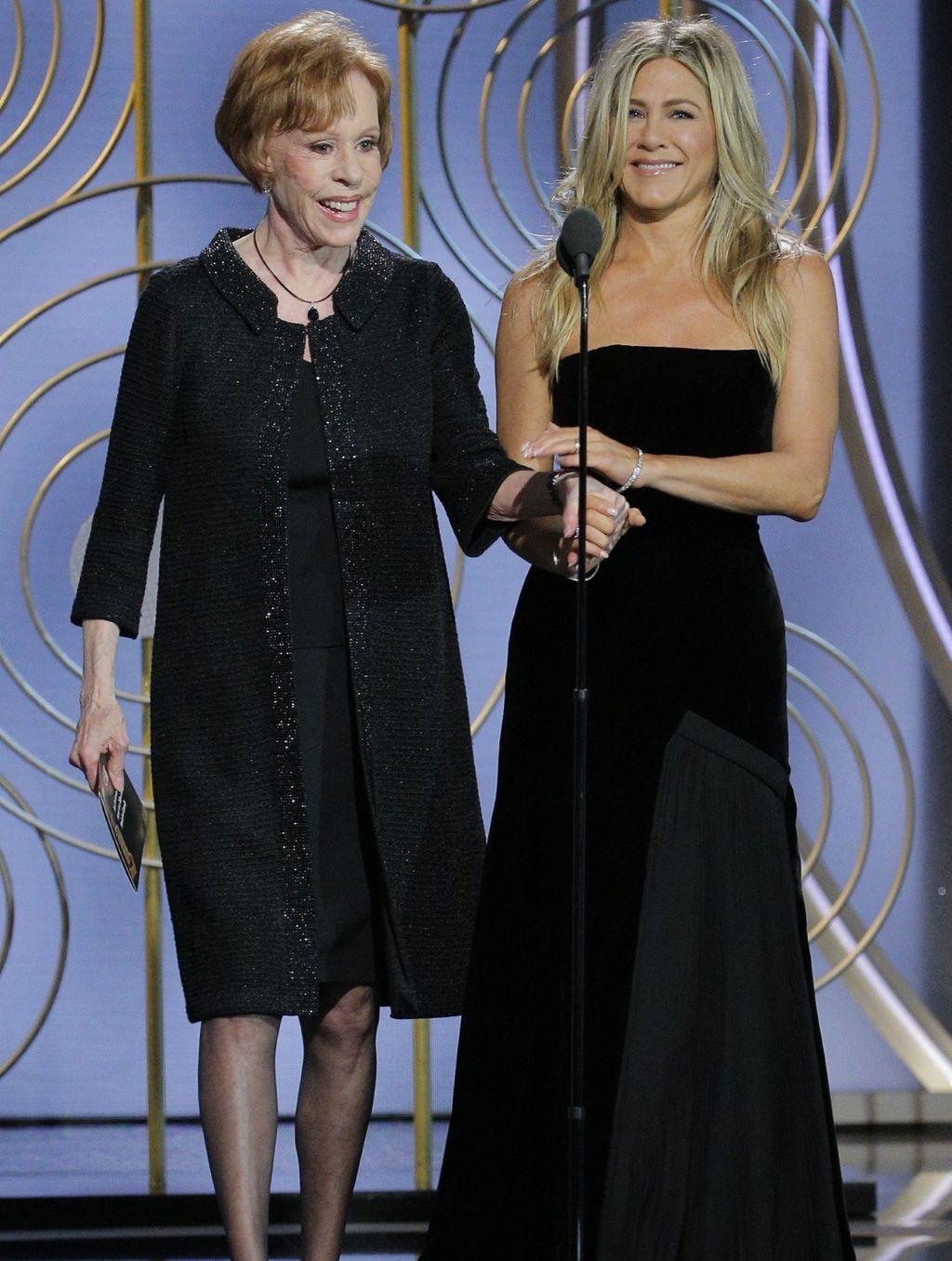Jennifer Aniston i Carol Burnett na dodjeli nagrada Zlatni globus