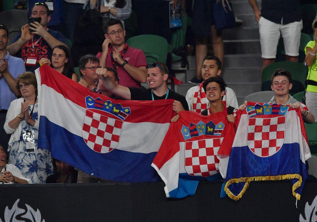 Hrvatski navijači u Melbourneu (Foto: AFP)