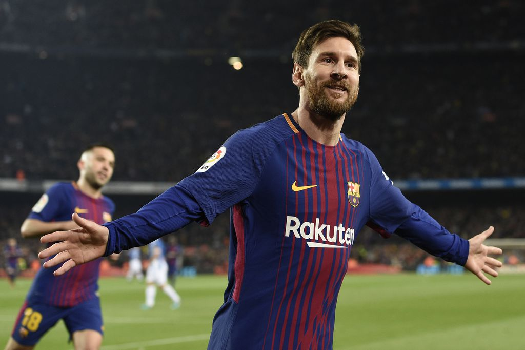 Messi slavi pogodak Espanyolu (Foto: AFP)