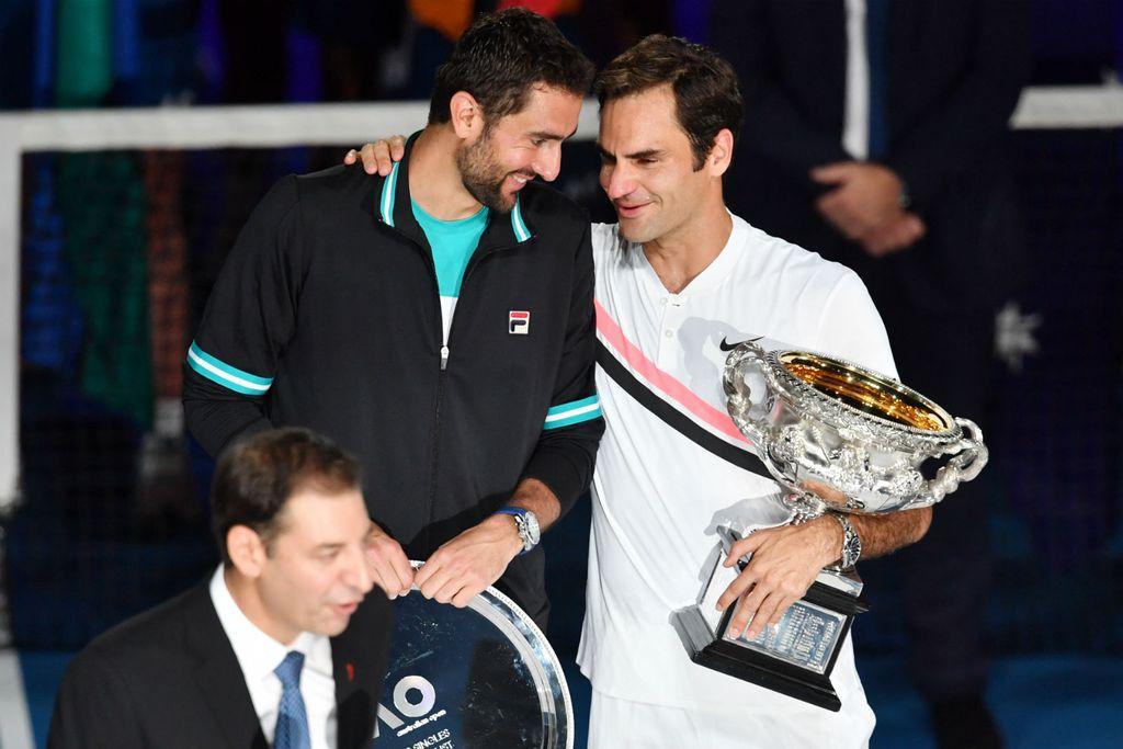 Marin Čilić i Roger Federer (Foto: AFP)