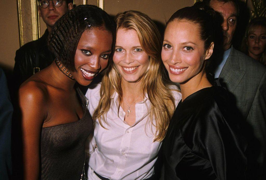 S kolegicama Naomi Campbell i Claudijom Schiffer