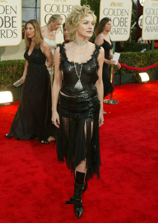 Sharon Stone u kreaciji modne kuće Versace