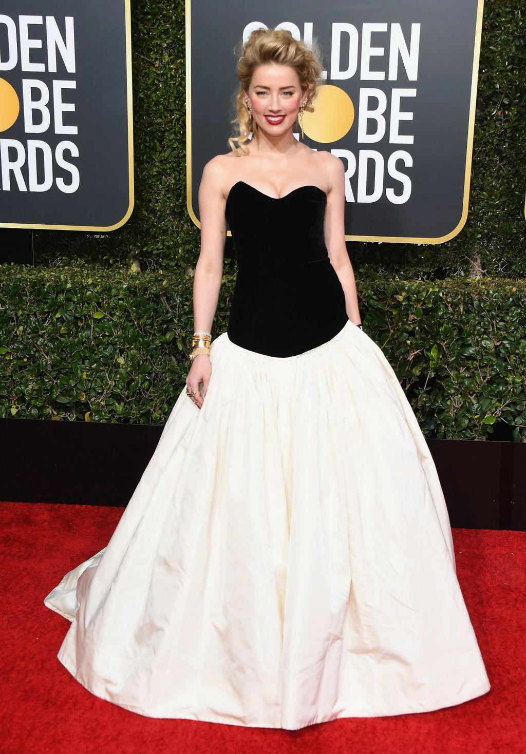 Amber Heard u haljini Monique Lhuillier
