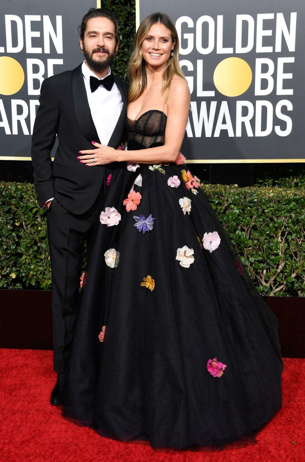 Heidi Klum na Zlatnim globusima u haljini s izraženim dekolteom - 5