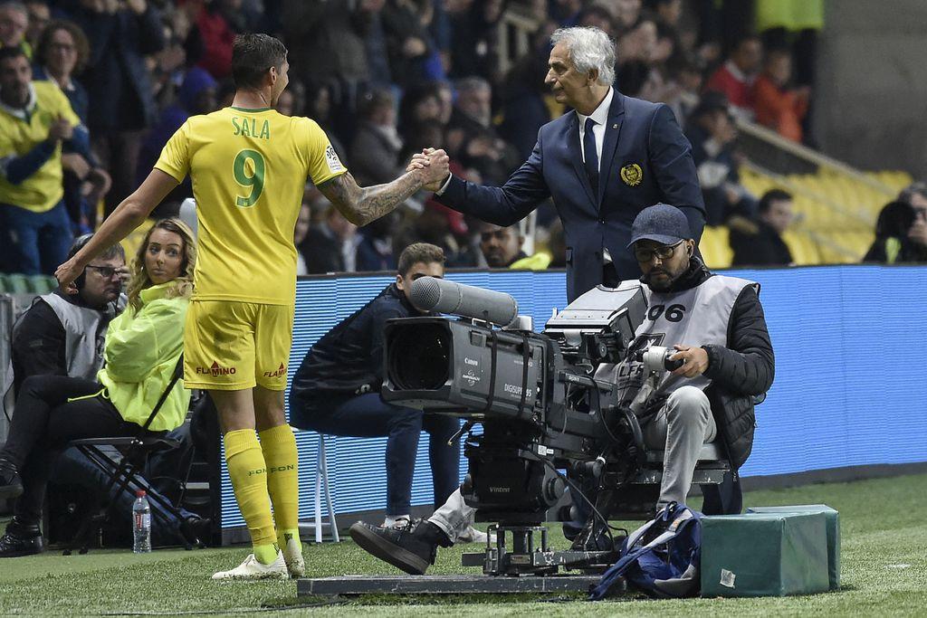 Emiliano Sala i Vahid Halilhodžić (Foto: AFP)