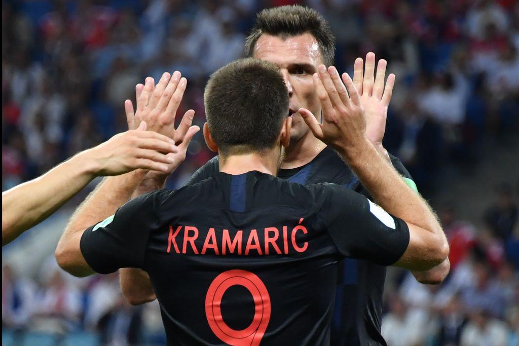 Mario Mandžukić i Andrej Kramarić (Foto: AFP)