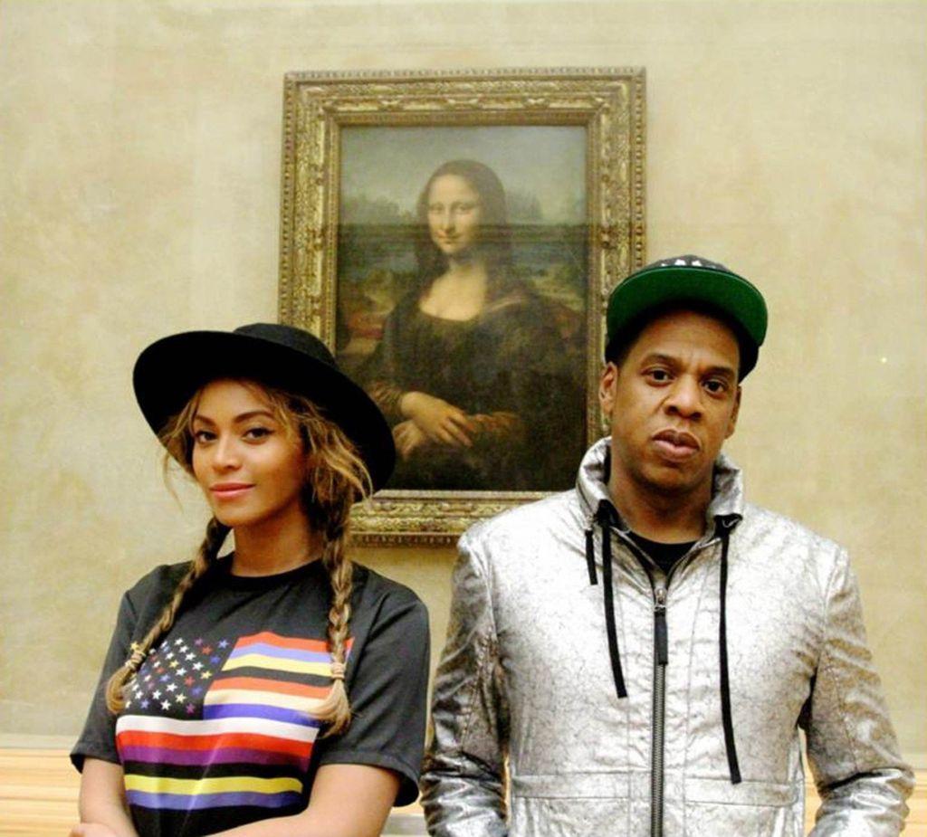 Beyonce i Jay-Z ispred Mona Lise Leonarda da Vincija