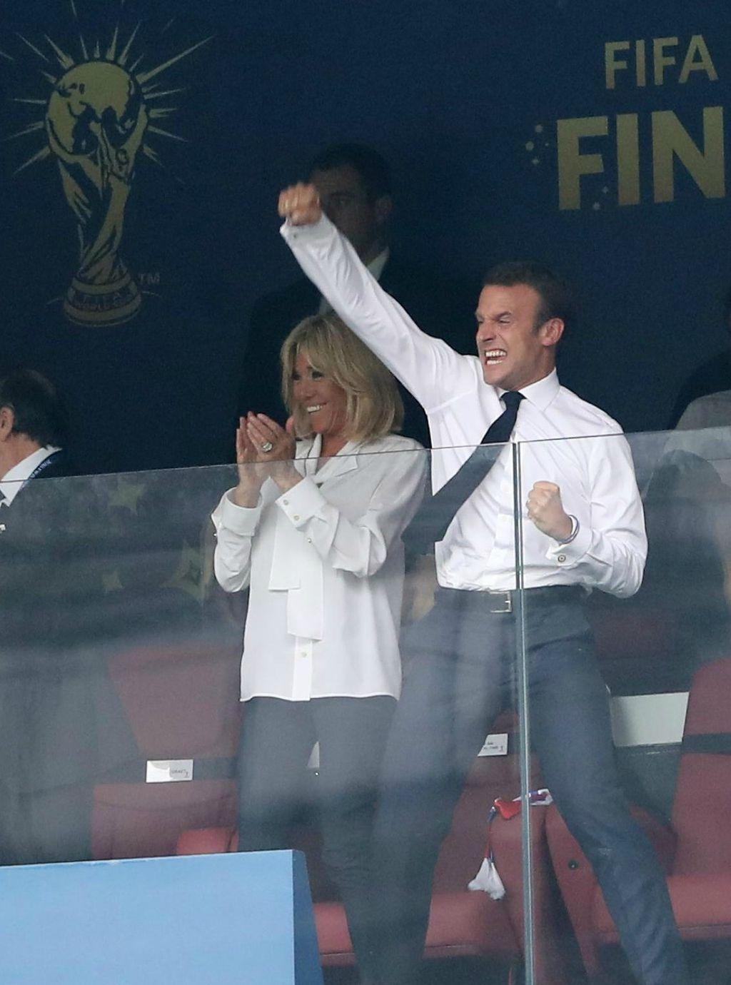 Brigitte i Emmanuel Macron vatreno su navijali za francusku reprezentaciju