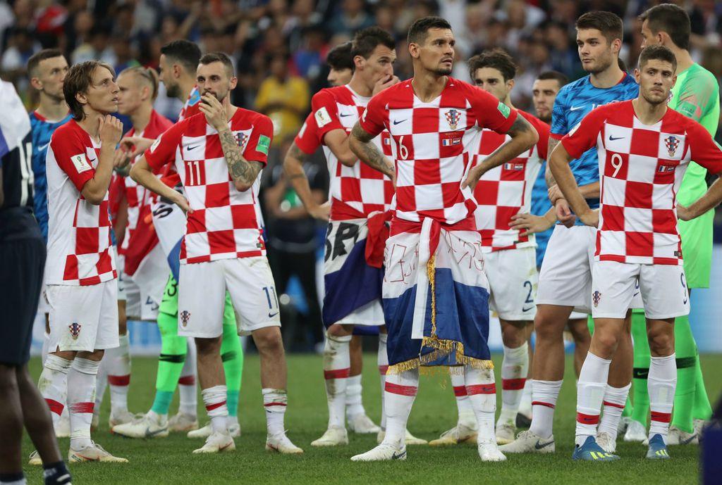 Tužni hrvatski reprezentativci nakon poraza u finalu SP-a