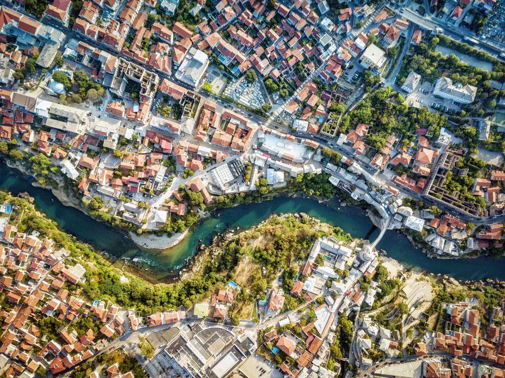 Pogled na grad iz zraka