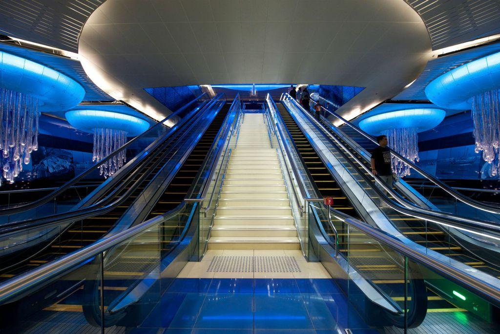 Zapanjujuća stanica metroa u Dubaiju