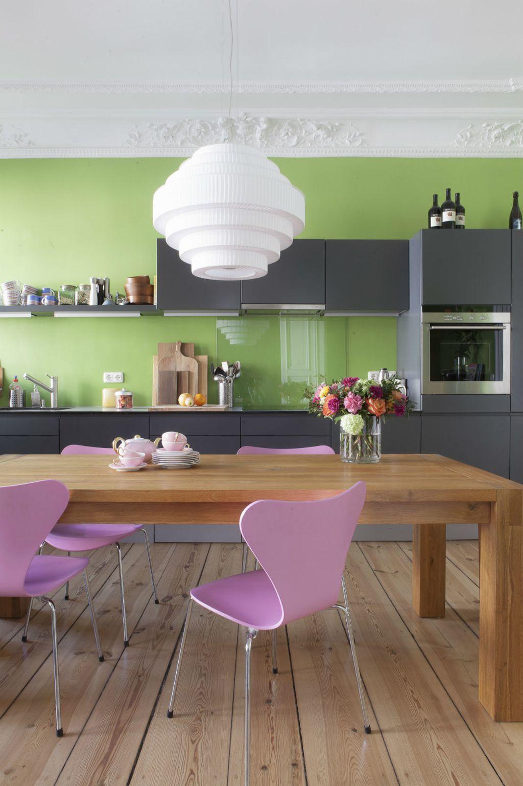 Kombinacija zelene i ružičaste u interijeru izgleda baš divno - 6