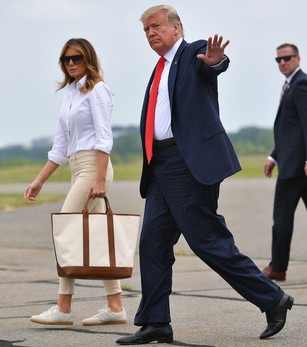 Melania Trump u skinny trapericama i tenisicama Adidas