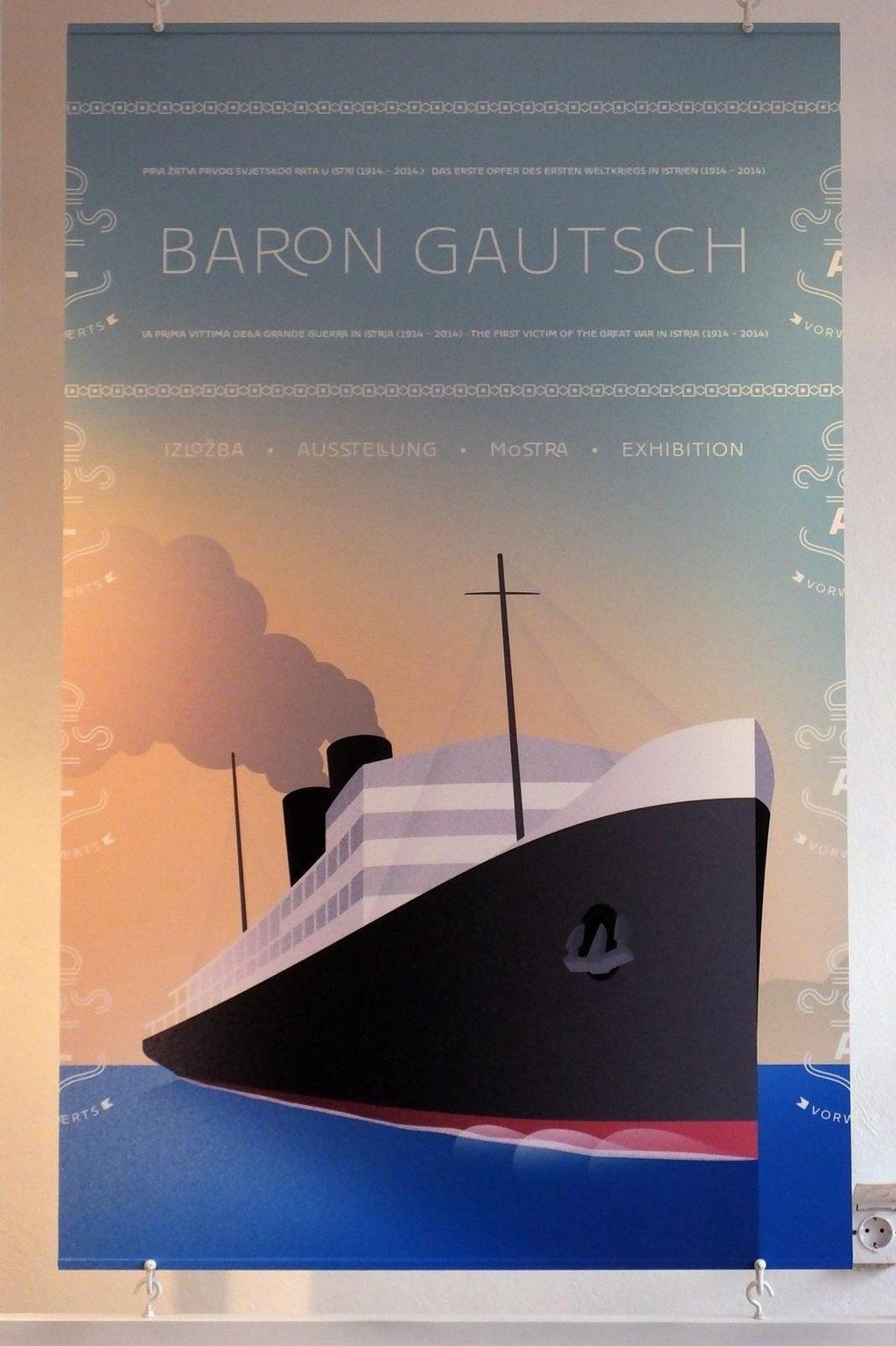 Parobrod Baron Gautsch izgledao je kao umanjena kopija Titanica